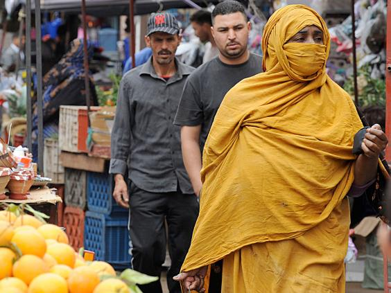 A market in Laayoune, the capital of Moroccan-controlled Western Sahara (AFP/Getty)
