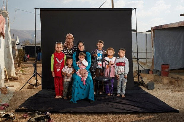 Souraya and her family. Photograph: Dario Mitidieri/Courtesy Cafod