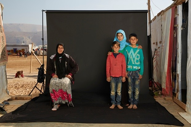 Sahar and her family. Photograph: Dario Mitidieri/Courtesy Cafod