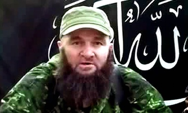 A screengrab from a 2013 video showing Doku Umarov, the leader of the Caucasus Emirate terror group and once one of Russia's most wanted men. Photograph: AFP/Getty Images