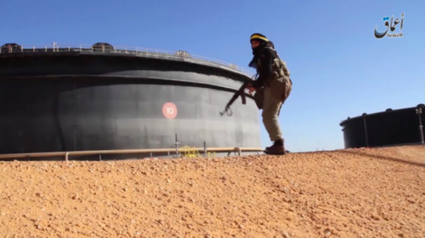 An ISIS fighter near an oil facility in Sirte, Libya. PHOTO: ISLAMIC STATE GROUP MEDIA CENTER