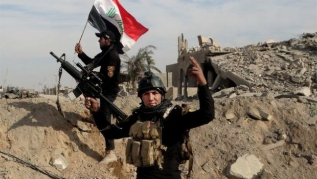Iraqi security forces said they had retaken the city of Ramadi on Sunday
