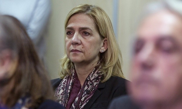 Princess Cristina at the hearing held in a courtroom in Palma. Photograph: PPE/News Pictures/Wenn.com
