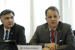Speaking at a special briefing on Libya in Geneva, His Excellency Dr Reida Oakely, Libya's Minister of Health, and Dr Syed Jaffar Hussain, WHO Representative for Libya, appealed to the international community to step up efforts to help save nearly 2 million people. WHO and health partners require a total of US$50 million in 2016 to meet critical health needs in Libya.