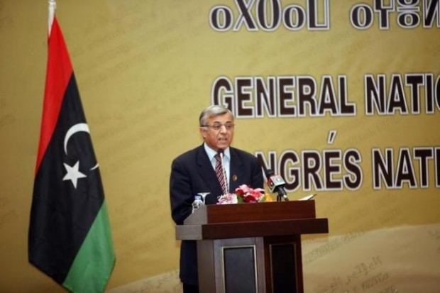 Nouri Abusahmain, president of the General National Congress (GNC), speaks during a ceremony in Tripoli January 30, 2014. REUTERS/ISMAIL ZITOUNY
