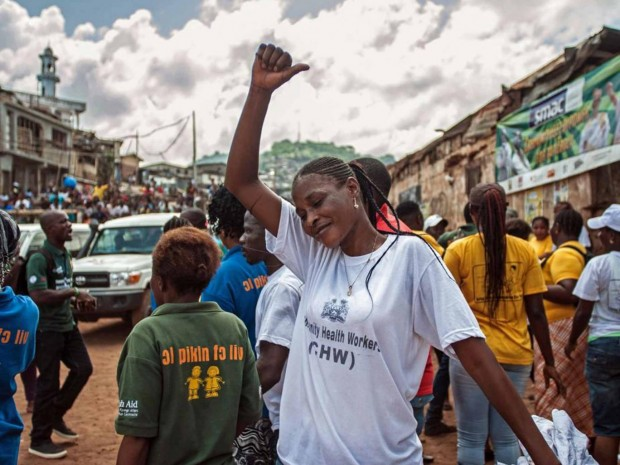 Celebrations last month in the capital as Sierra Leone is declared Ebola-free AP