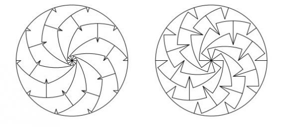 Monohedral pizza slices, with notches