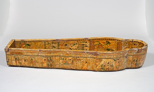 One of Nespawershefyt's coffins, which x-rays revealed was made from parts from one older coffin. Photograph: Andrew Norman/The Fitzwilliam Museum, Image Li