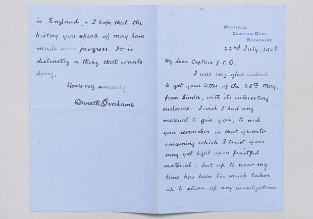 The first page of Kenneth Grahame's letter. Photograph: Peter Harrington