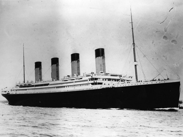 The Titanic, which sank during her maiden voyage in 1912 Getty Images