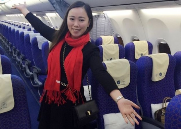 Chinese netizens have dubbed her the world's'luckiest passenger'