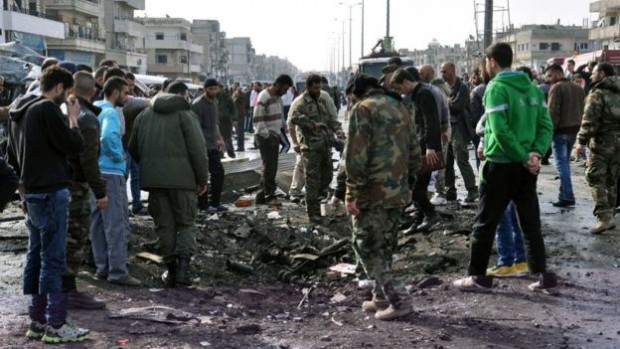 The neighbourhood in Homs where it happened has been frequently targeted | AFP
