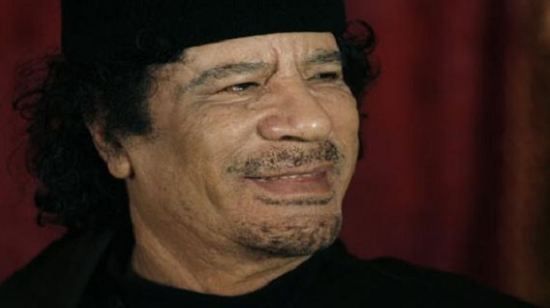 The late Libyan leader Moammar Gadhafi