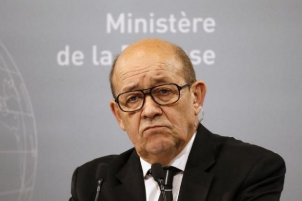 French Defence Minister Jean-Yves Le Drian reacts during a news conference at the French Defence Ministry in Paris, France, January 20, 2016. REUTERS/Charles Platiau