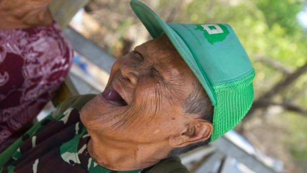 Despite hardships, Daeng Abu can often be seen in a joyous, toothless smile (Credit: Theodora Sutcliffe)