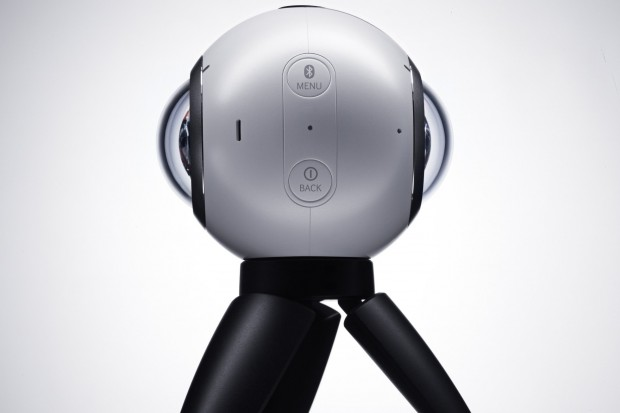 Samsung's new Gear 360, a camera for recording virtual-reality videos. Credit Samsung