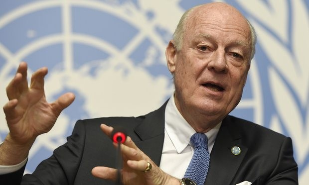 The UN's special envoy to Syria, Staffan de Mistura. The 18-day ceasefire is fragile but holding, he says. Photograph: AFP/Getty