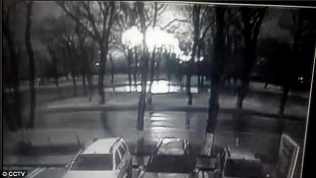 This is believed to be the moment the crashed on landing at Rostov-on-Don airport in Russia