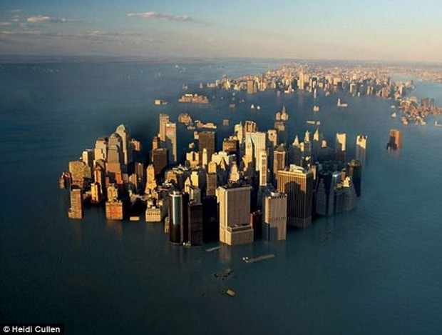 Most scientists agree that sea levels will rise, but some say it won't happen for centuries. Now, a new study suggests sea levels will increase several feet over the next 50 years. It claims the world's coastal cities, including New York (pictured) and London, could be underwater by the end of the century
