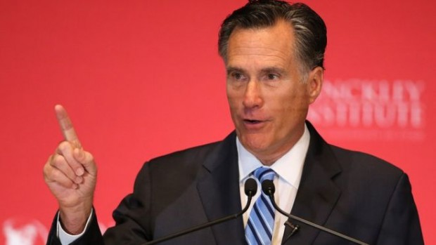 Mr Romney has called Donald Trump a 'phony' and a 'fraud'