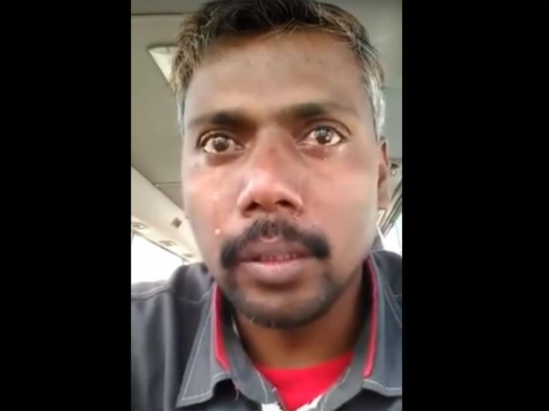 Mr Makandar has been jailed after this video went viral YouTube