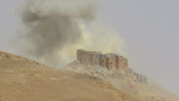 Government forces retook a 13th Century castle overlooking Palmyra on Friday