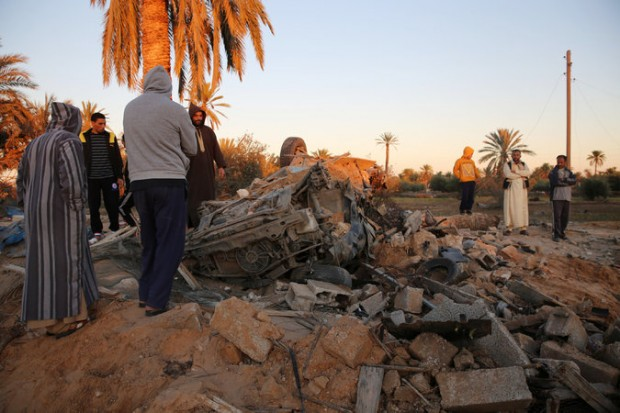 American warplanes bombed an ISIS training camp in Sabratha, Libya, about 50 miles west of Tripoli, last month. Credit Mohame Ben Khalifa/Associated Press