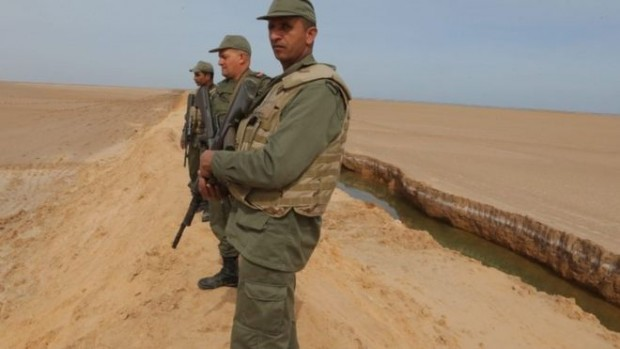 Tunisia has dug a trench along the border with Libya to help protect it from militants