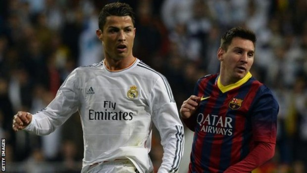 Is Cristiano Ronaldo (left) better than Lionel Messi? The debate has divided many football fans for years.