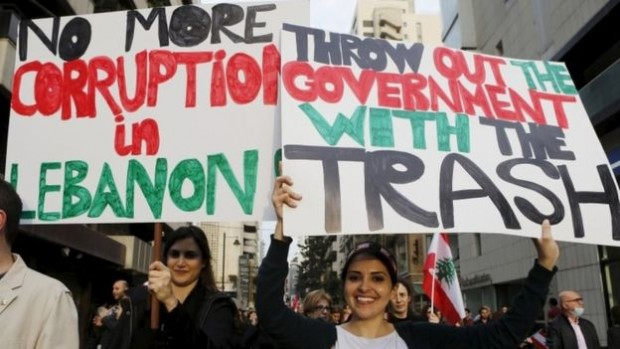 Protesters say the government has failed to provide a lasting solution to Beirut's rubbish disposal crisis