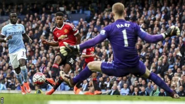 Marcus Rashford has now scored five goals in eight Manchester United appearances