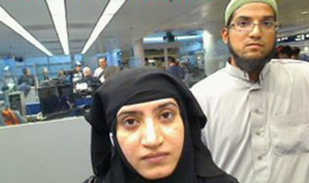 Syed Rizwan Farook, right, and his wife Tashfeen Malik, killed 14 people at an office party on 2 December