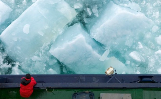Sea-ice has a thickness that needs measuring, as well as a surface area
