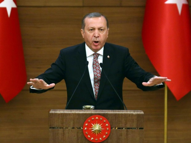 President Erdogan said: 'The media should not have unlimited freedom' AFP/Getty Images