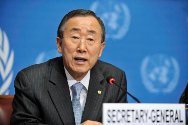 UN Secretary General Ban Ki Moon