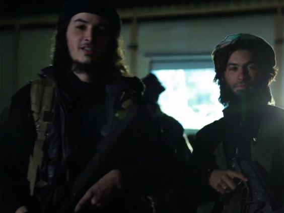 Belgian Isis fighter Abu Abdullah al-Beljiki (left) warns the attacks are 'just the beginning of your nightmare'