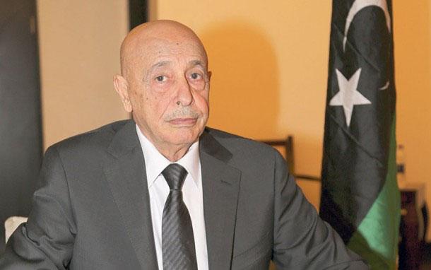 The President of Tobruk Parliament, Aqilah Saleh