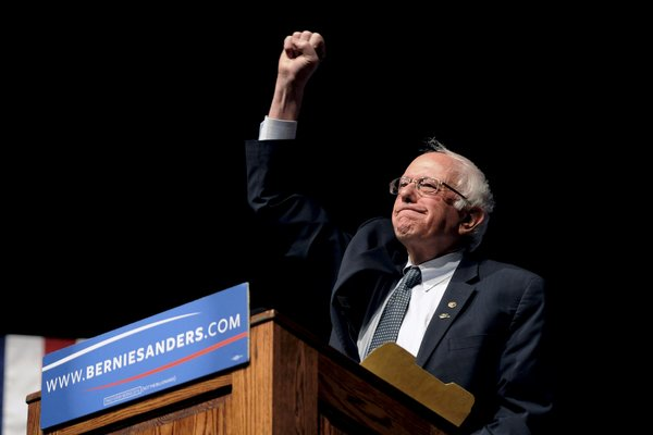 Senator Bernie Sanders of Vermont on Tuesday in Laramie, Wyo. Credit Mark Kauzlarich/Reuters