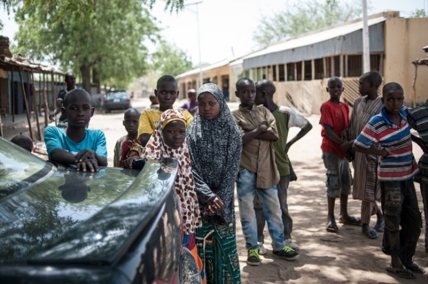 Children in Chibok, Nigeria, last month. One of every five suicide bombers deployed by Boko Haram in the past two years has been a child, a report by Unicef said. Credit Stefan Heunis/Agence France-Presse — Getty Images