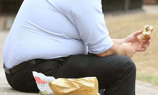 By 2025, the UK will have the highest obesity among both men and women in Europe, at 38%, say the researchers Photograph: Dominic Lipinski/PA