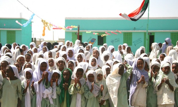 Um Al-Gura girls school in Nahr Atbara, Kassala state. Primary school completion rates stand at just 26.1% in rural areas of Sudan. Photograph: Yousra Elbagir/Elephant Media