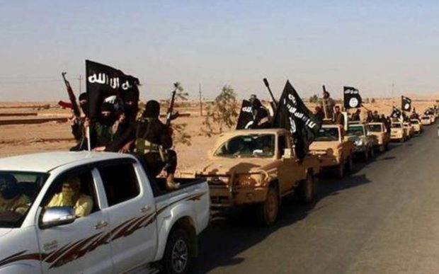 An ISIL convoy driving through Iraq
