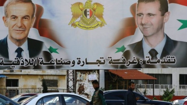 Syria's Alawites are closely associated with Bashar al-Assad (R) and his late father Hafez (L)