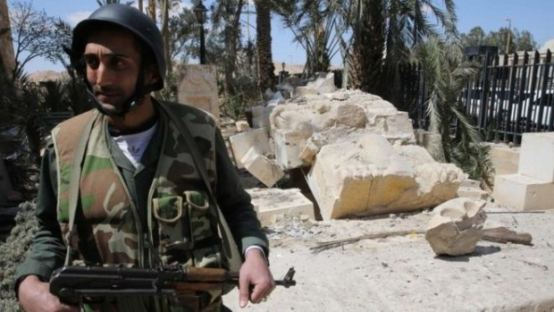 Syrian troops retook Palmyra last Sunday