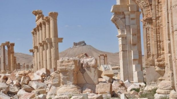 Palmyra's ancient ruins have been extensively damaged by IS