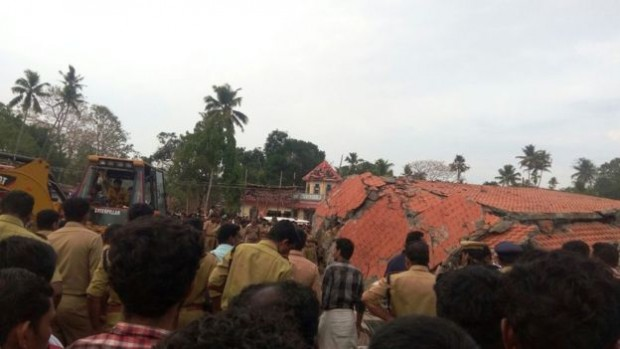 Officials used bulldozers to rescue those trapped by collapsed building