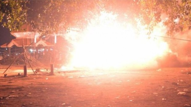 There was an explosion in a store of fireworks