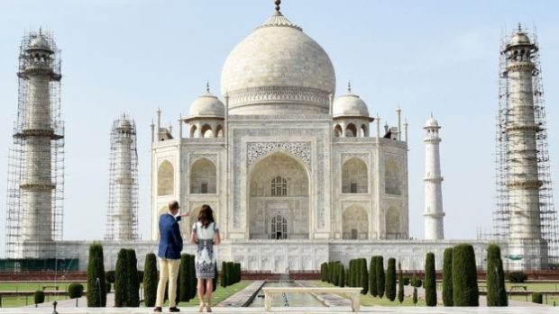 It took 22 years from 1632 to build the white marble tribute to love