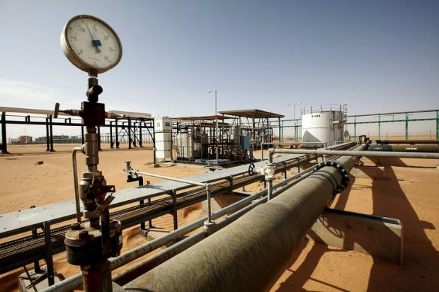 The El Sharara oil field in Libya. The Tripoli-based National Oil Co. says it has taken action to block the first export of crude oil by a rival in Libya's east. PHOTO: REUTERS