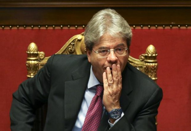 Italy's Foreign Minister Paolo Gentiloni attends at Senate in Rome, Italy, April 5, 2016. Italy said on Tuesday it would take ''immediate and proportionate'' measures against Egypt if the Cairo government did not fully cooperate in uncovering the truth over the murder of an... REUTERS/ALESSANDRO BIANCHI